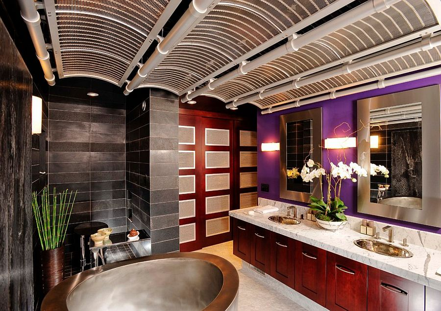 23 amazing purple bathroom ideas photos inspirations for Asian bathroom decorating ideas