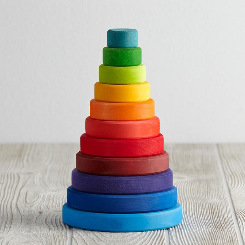 Stacking blocks from The Land of Nod