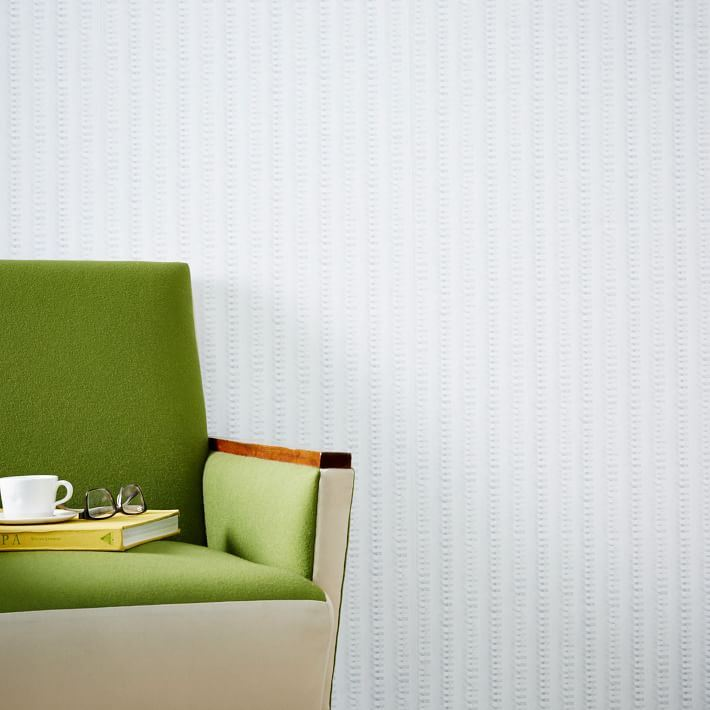 Stripe-motif wallpaper from West Elm
