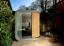 Stunning prefab office in the garden is both functional and aesthetic 217x155 Hot Design Trends Shaping Home Offices in 2015