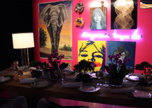 Table Adorned with Artwork