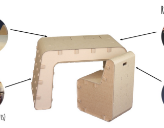 Recycled Cardboard Imagination Desk and Chair: Let Your Kids' Creativity Take Over!