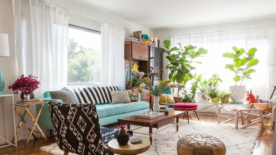 The redecorated living room of Bri Emery 6 Inspiring Room Makeover Projects