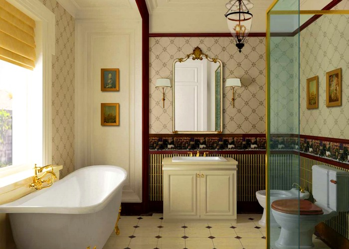 Traditional Bathroom combines aesthetics with functionality
