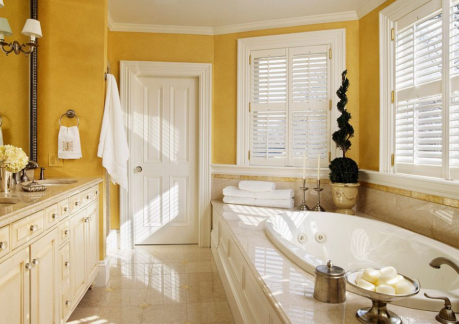 Traditional bathroom with hints of Victorian charm [Design: Siemasko + Verbridge]