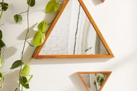 Triangle mirrors from Urban Outfitters