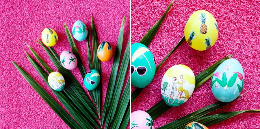 Tropical Easter eggs from Melodrama