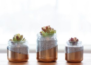 Upcycled glass jar planter from Circusberry