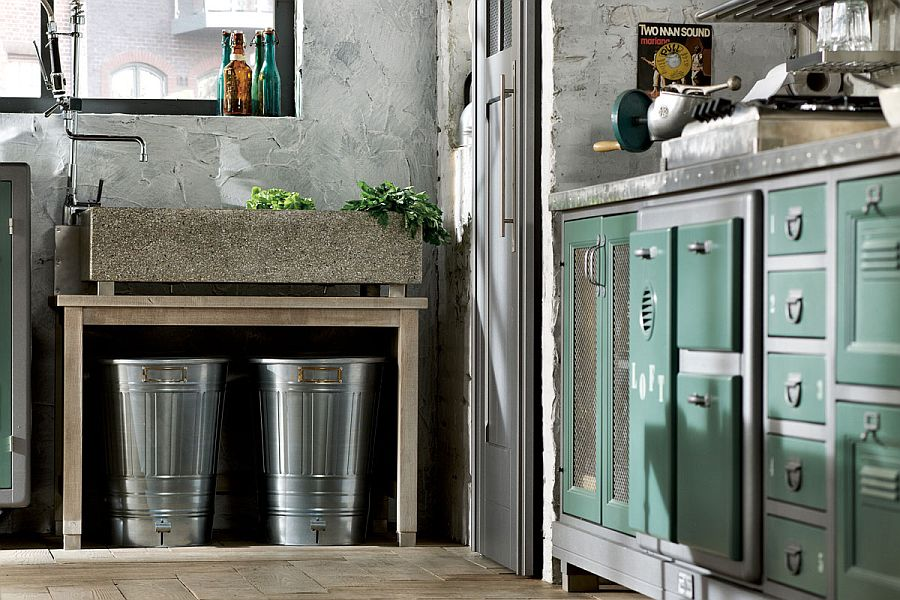 Vintage kitchen combines rustic and industrial styles with ease