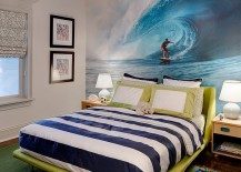 Wall mural in the bedroom inspired by the ocean!