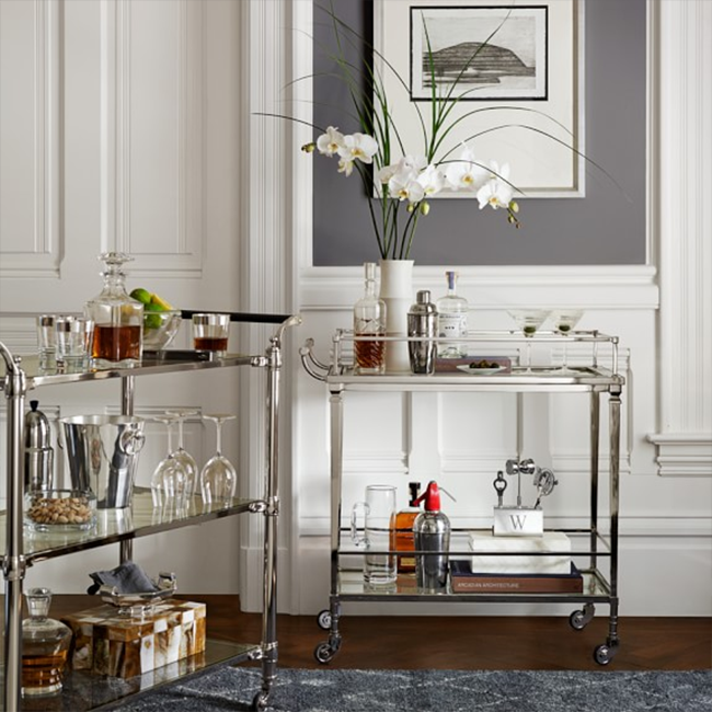 Williams Sonoma Cosmopolitan Bar Cart