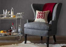 Williams Sonoma Mirror Finish Cosmopolitan Bar Cart