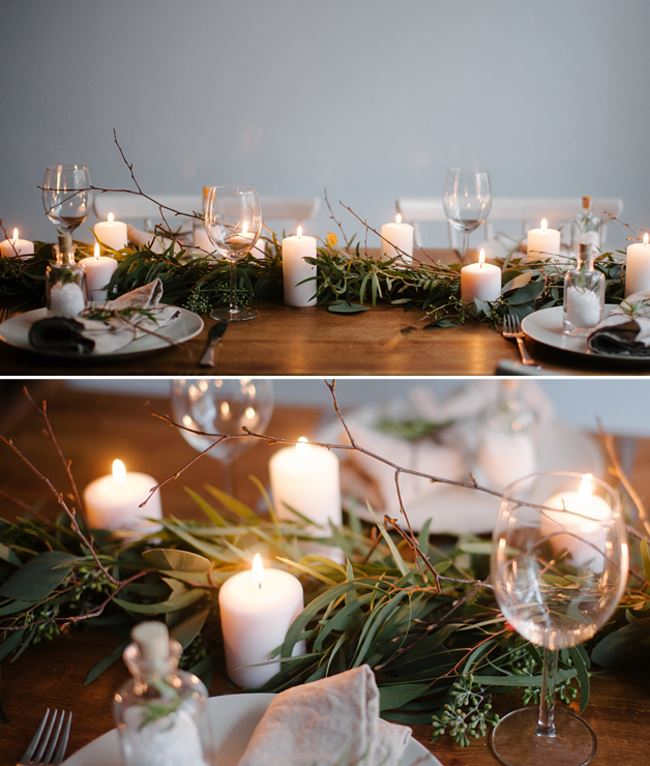 Winter table runner from Best Day Ever