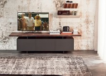 Wooden TV unit with contemporary design 217x155 Trendy TV Units for the Stylish, Space Conscious Modern Home