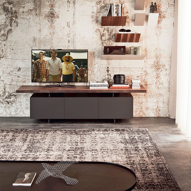 Wooden TV unit with contemporary design