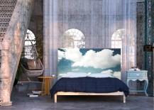 Blue eclectic bedroom