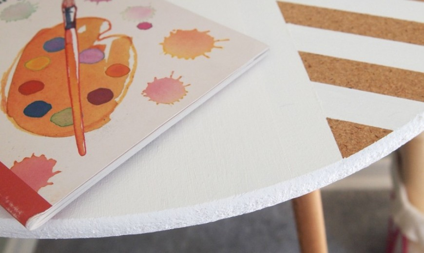 DIY: Modernize A Table with Paint and Tape!