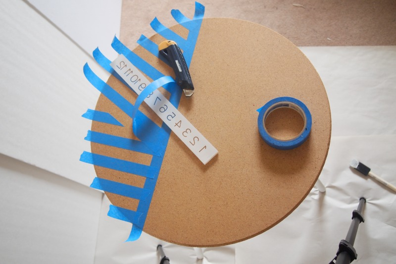 use utility knife to cut excess tape
