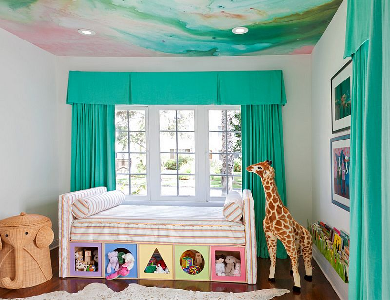 A captivating ceiling for the modern nursery [Design: Copper Gyer Design]