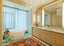 A-chandelier-with-floating-bubbles-seems-apt-for-the-trendy-contemporary-bathroom-217x155