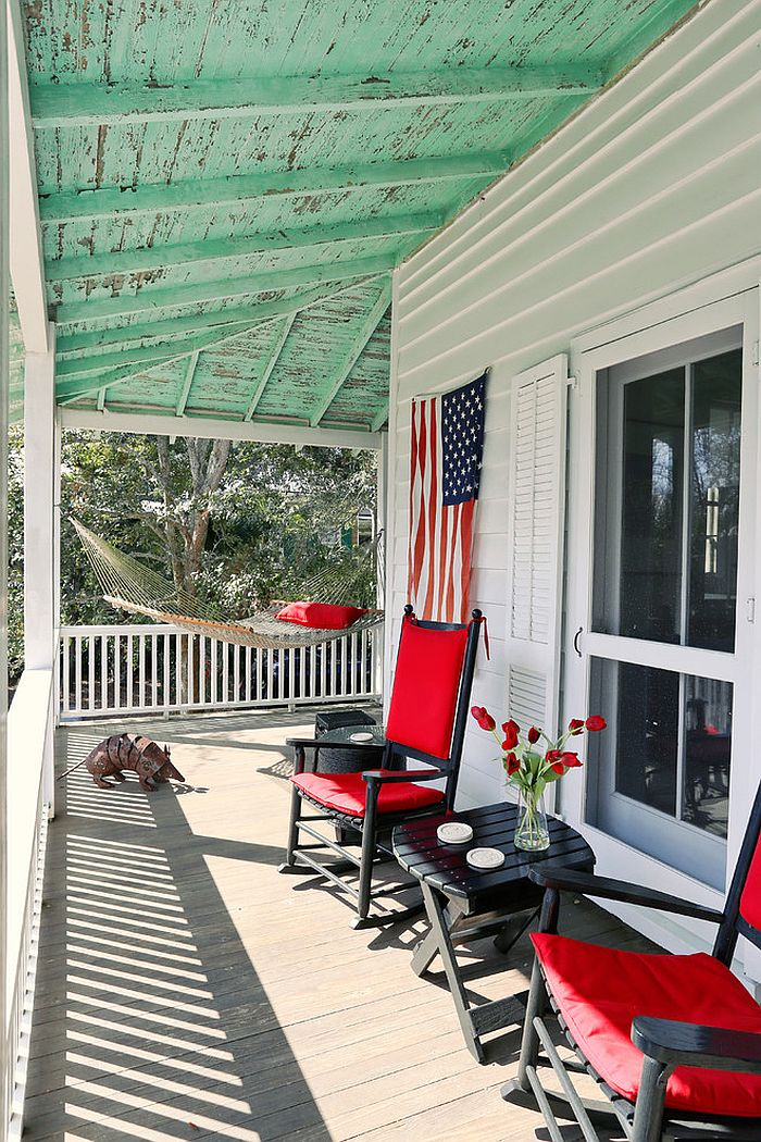 A hint of Americana for the porch