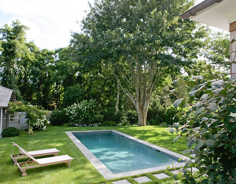 a modest pool design for the small yard design wettling architects - Backyard Pool Design