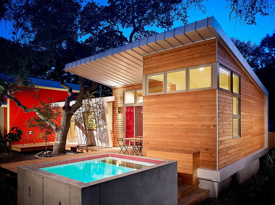 A plunge pool takes up little space indeed! [Design: Clayton&Little Architects]