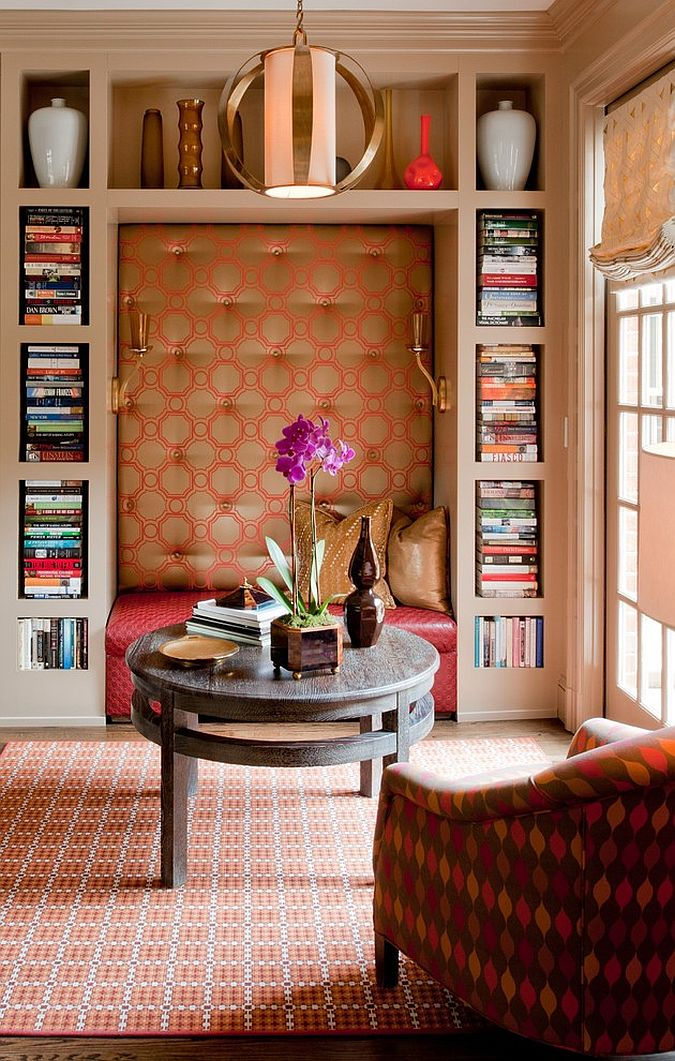 A reading zone that offers tranquility and comfort [Design: Teri Thomas Interiors]
