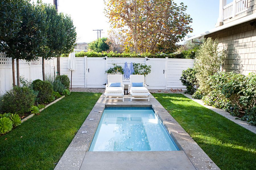 Swimming Pool Designs For Small Yards View in gallery A tiny pool in the small urban backyard is all you need to  beat the summer