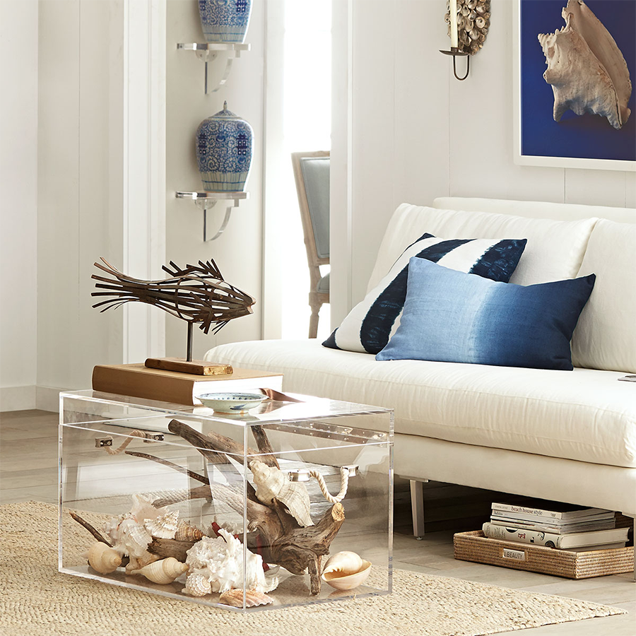 Acrylic Trunk with Sea Themed Room 8 Pieces of Transparent Furniture That Give Any Room a Clear Advantage
