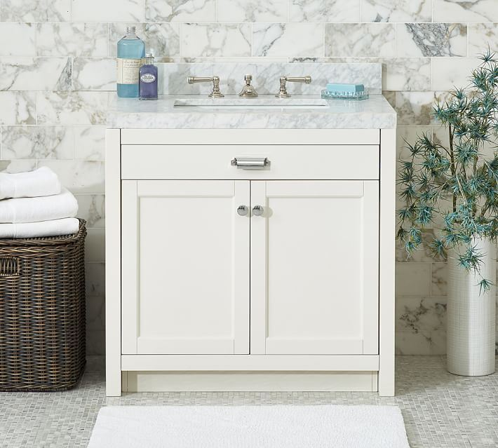 Bathroom console from Pottery Barn
