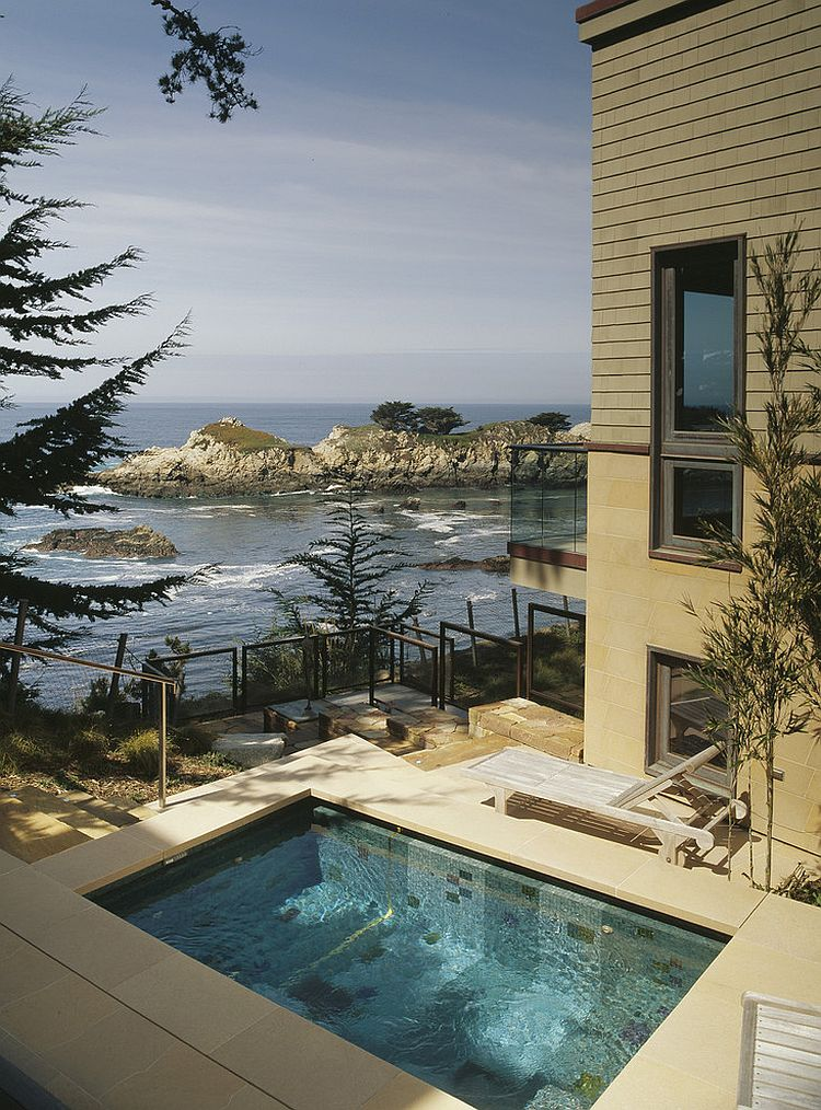 Beach style small pool with a view to match! [Design: Randy Thueme Design]