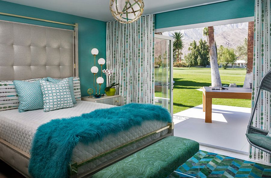 Beautiful bench brings charm of Malachite to the bedroom [Design: Crestron Electronics]