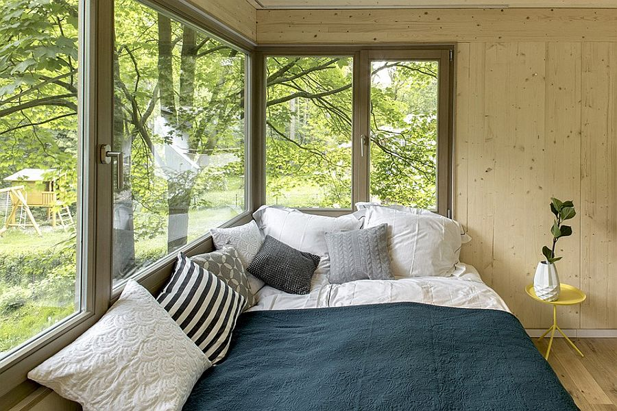 Bedroom of the treehouse with wonderful views