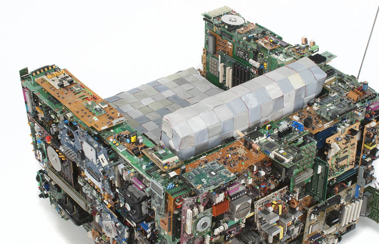 Binary Chair Made of Recycled Motherboards