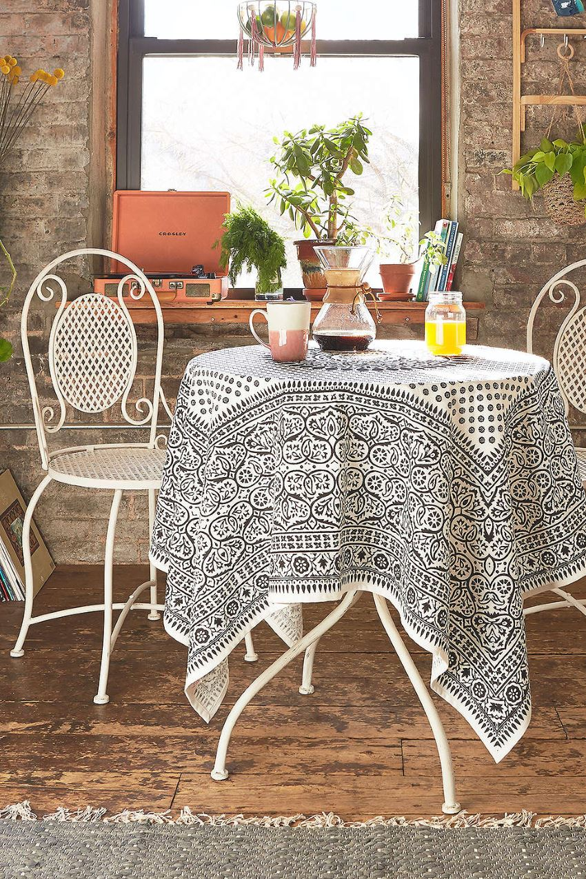 Bistro chairs in a Boho dining area