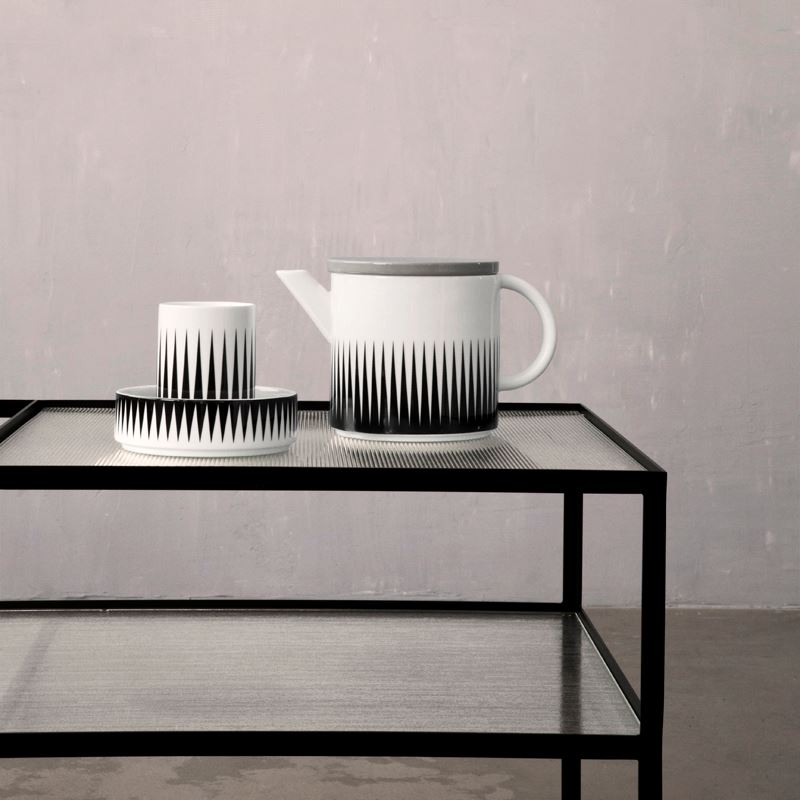 Black and white serveware from ferm LIVING