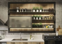 Brilliant kitchen cabinet design with built-in LED lighting
