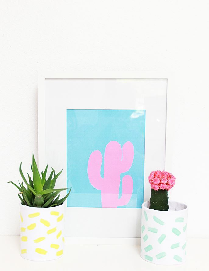 Brushstroke planters from A Bubbly Life