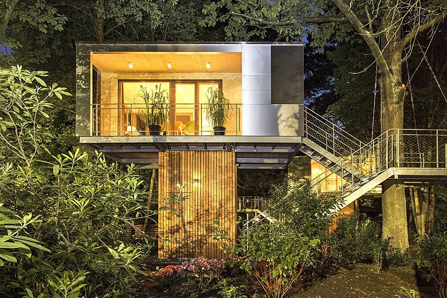 Cantilevered home design is perfect for areas prone to flooding