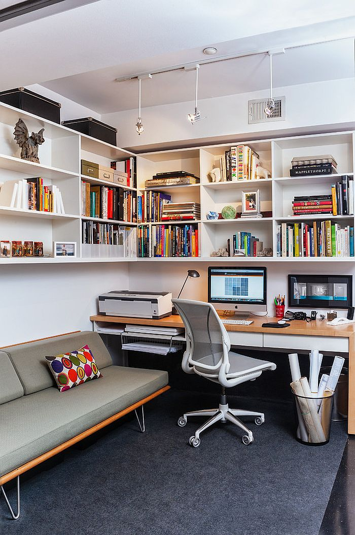 Case Study Daybed by Modernica in the small home office [Design: Patrick Brian Jones]