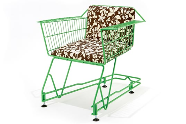 Chair Made Out of a Shopping Cart