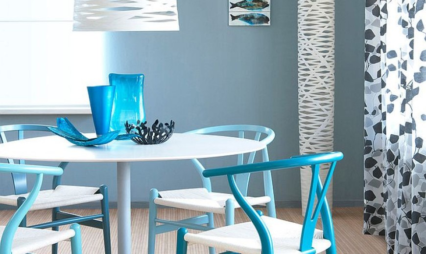 How to Use Diverse Shades of Blue to Craft a Brilliant Dining Room