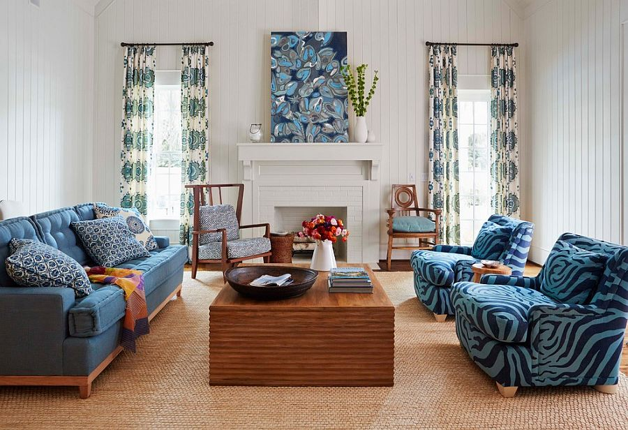 Classy living room inspired by the ocean [Design: Andrew Howard Interior Design]
