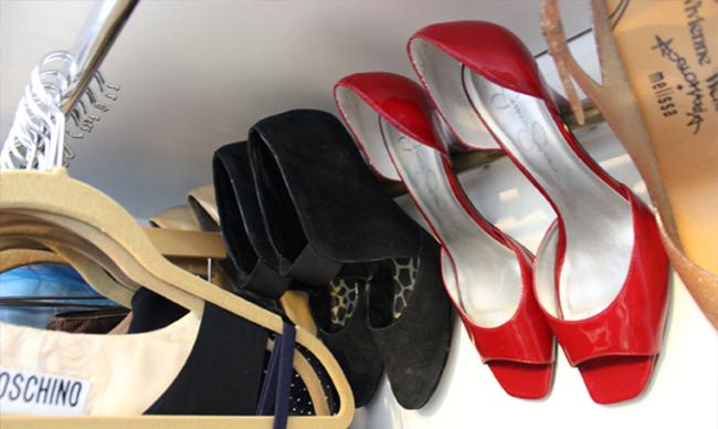 Clossette Shoe Rack in Closet