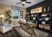 Contemporary and tropical styles meet inside this home office 217x155 10 Ways to Go Tropical for a Relaxing and Trendy Home Office