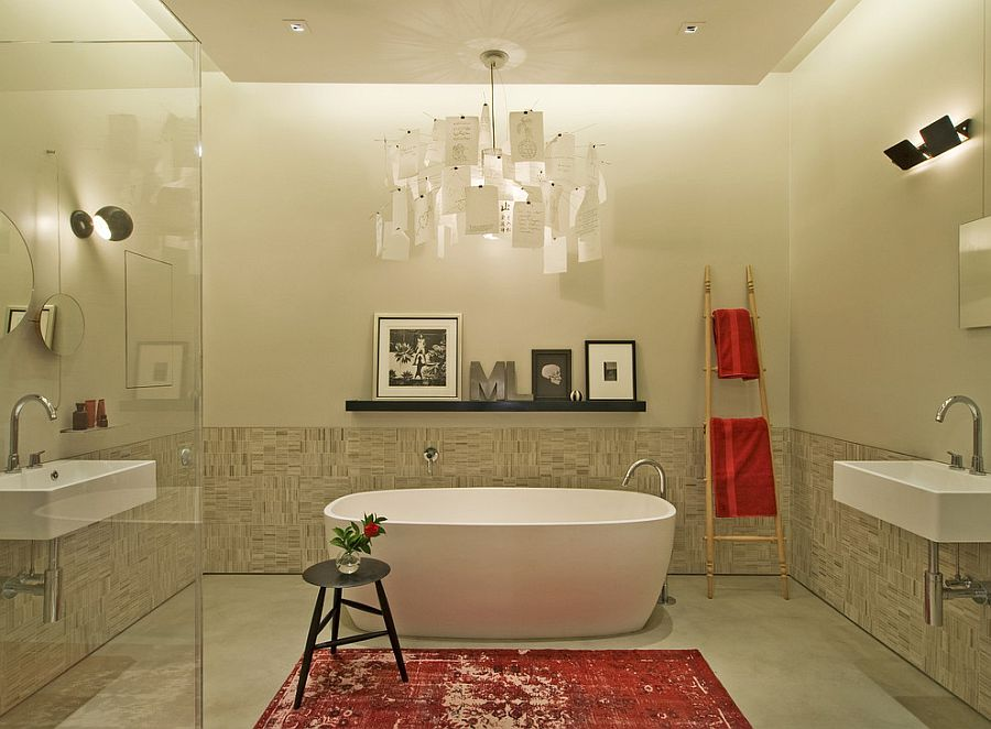unique bathroom lighting ideas. Wonderful Bathroom View In Gallery Contemporary Bathroom With Cool Industrial Flair Design  David Howell Design Throughout Unique Bathroom Lighting Ideas O