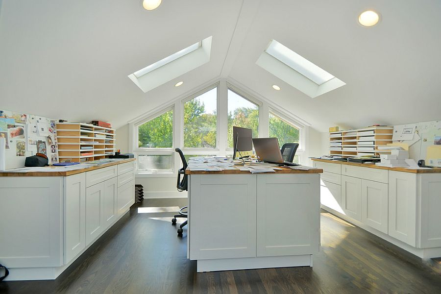 attic ideas houzz - 20 Trendy Ideas for a Home fice with Skylights