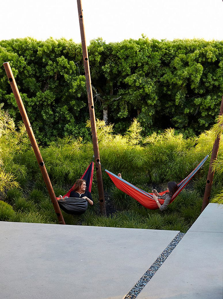 Contemporary take on the classic hammock [Design: Jeffrey Gordon Smith Landscape Architecture]
