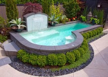 Cool off this summer in your small backyard pool